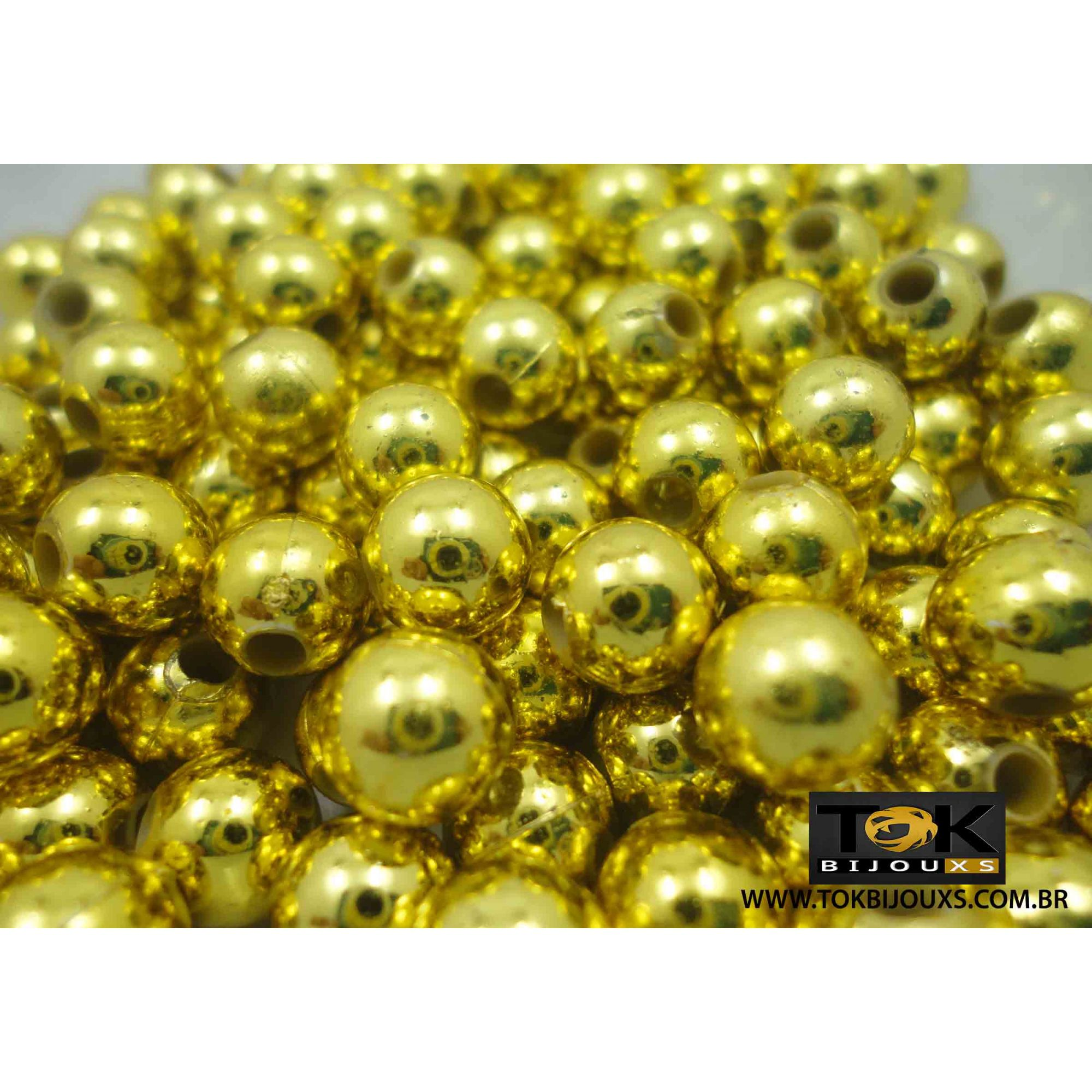 Pérola 12mm - Dourado - 25g