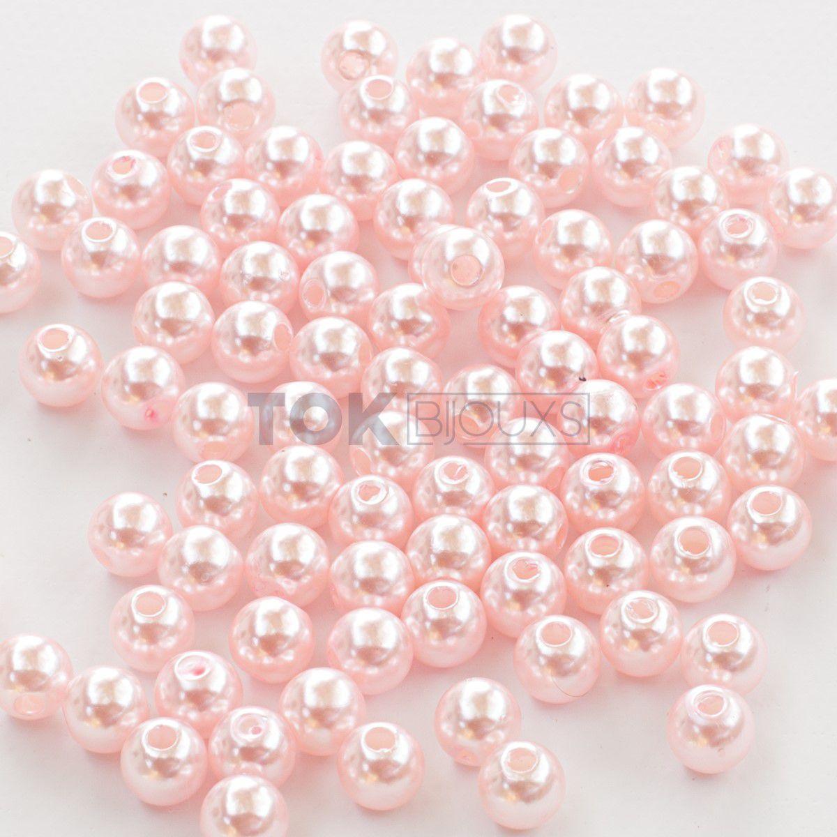 Pérola Redonda Abs 10mm - Rosa Bebe - 25g