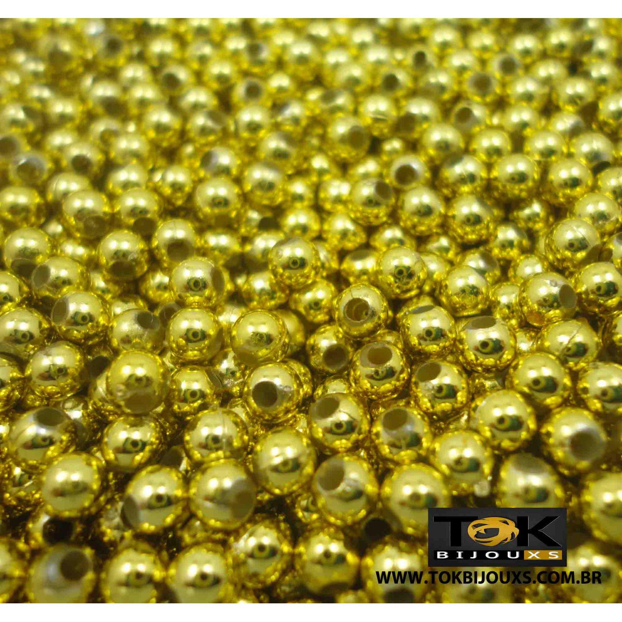 Pérola Abs 4mm - Dourada - 25g