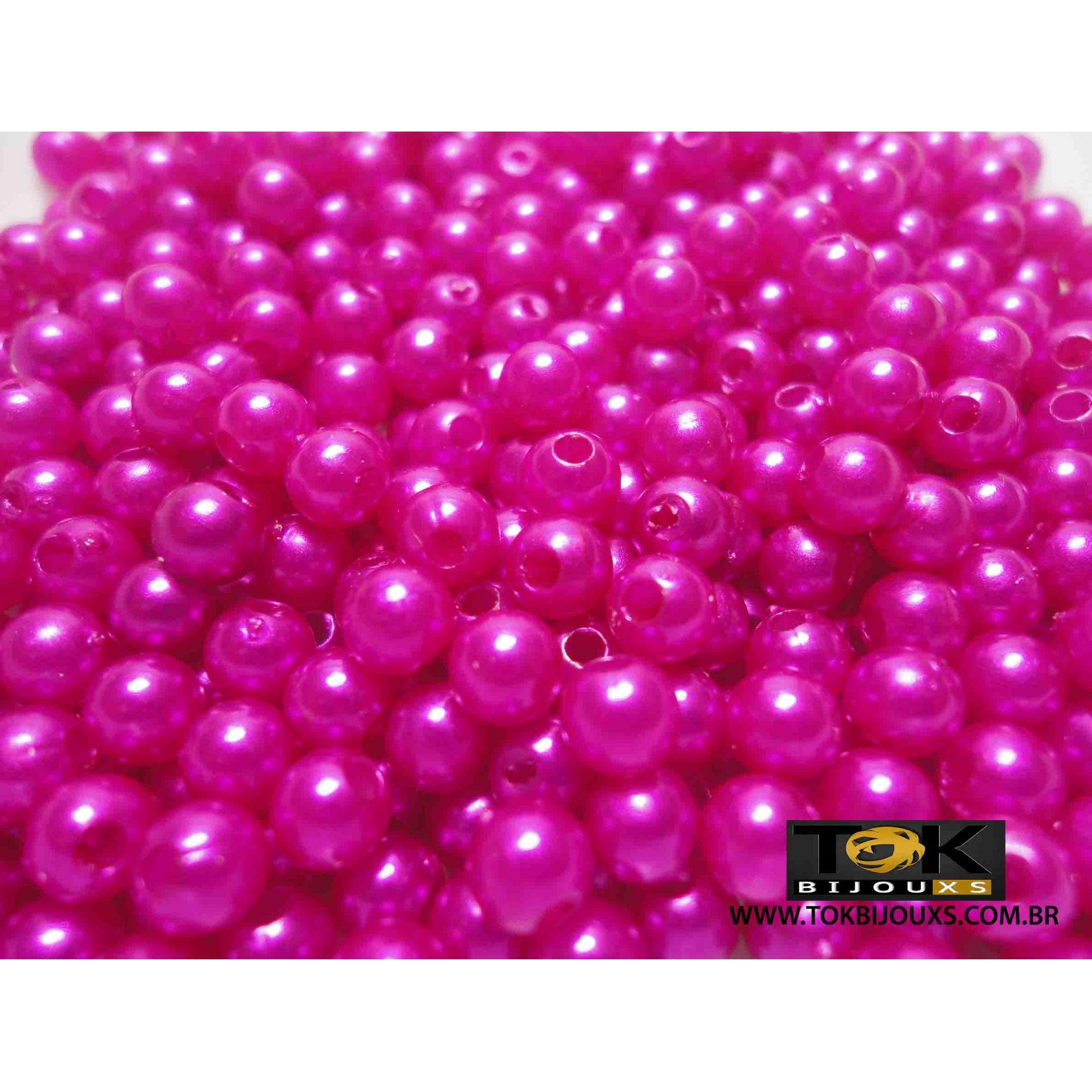 Pérola Abs 5mm - Pink - 25g