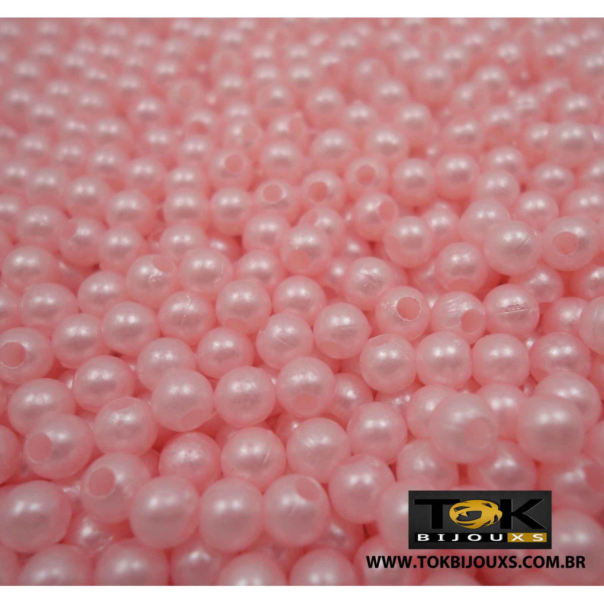 Pérola Abs 5mm- Rosa Bebe - 25g