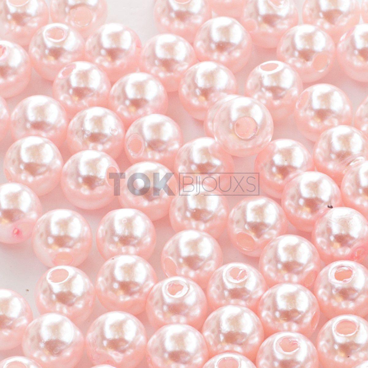 Pérola Redonda Abs 6mm- Rosa Bebe - 25g