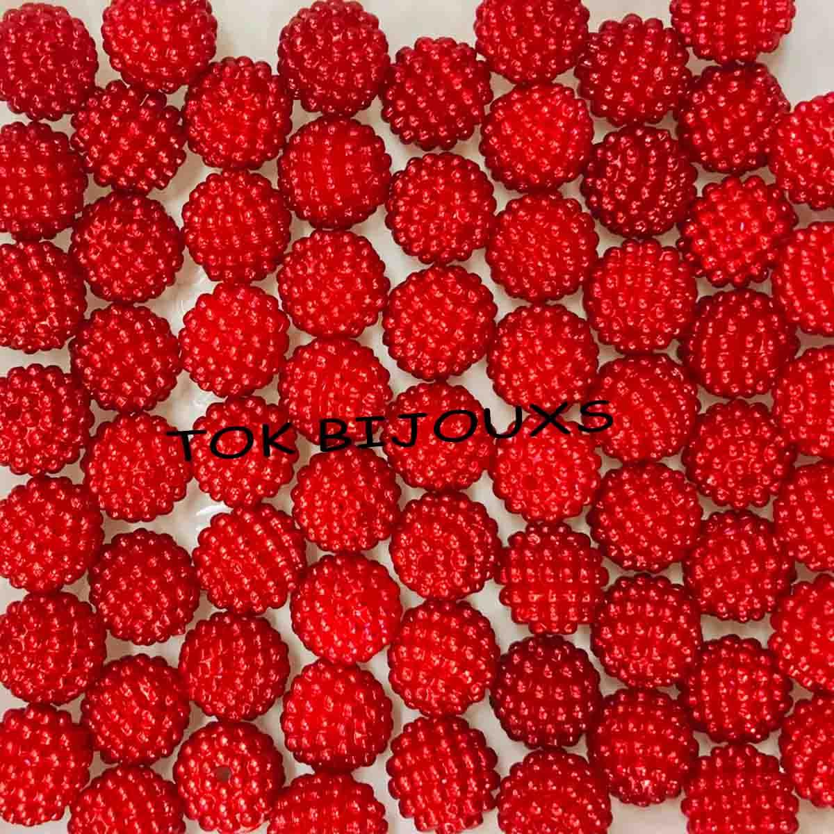 Pérola Amora / Craquelada Abs 10mm - Vermelho - 25g