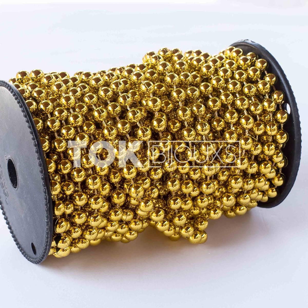 Pérola Em Rolo 8mm Dourado - 1 Metro