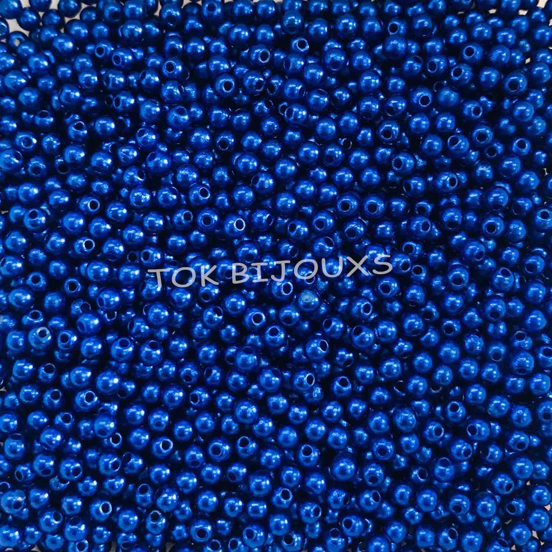 Pérola Plástica Abs 3mm - Azul Royal - 25g