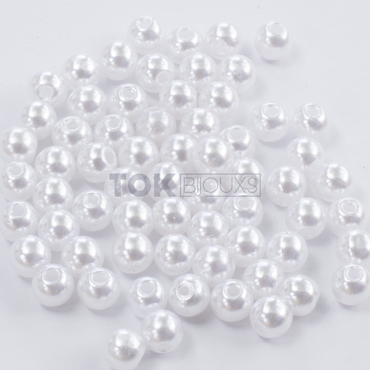 Pérola Plástica Abs 3mm - Branca - 25g