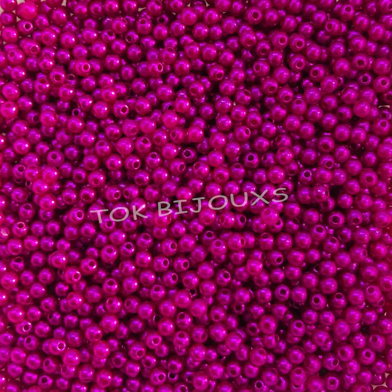 Pérola Plástica Abs 3mm - Pink - 25g