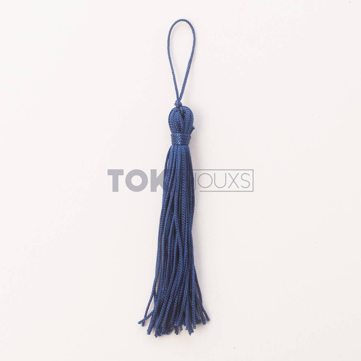 Pingente De Seda - Tassel - Azul Marinho - 100 Unid