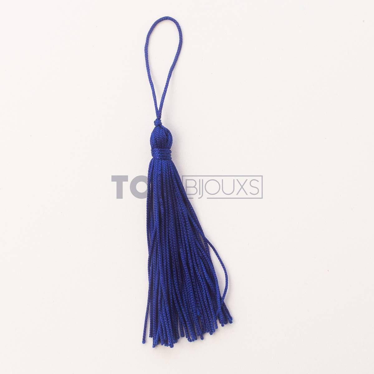 Pingente De Seda - Tassel - Azul Royal - 100 Unid