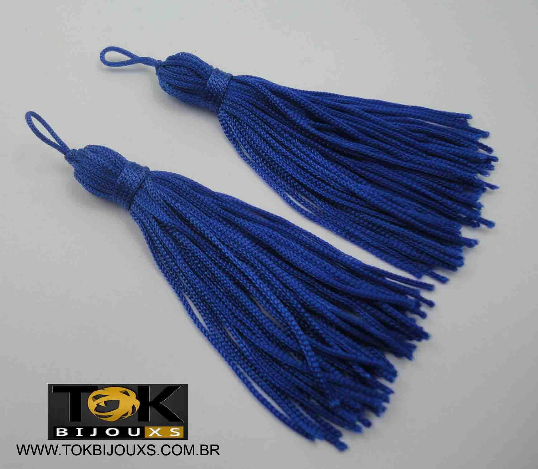 Pingente De Seda - Tassel - Azul Royal - Unidade