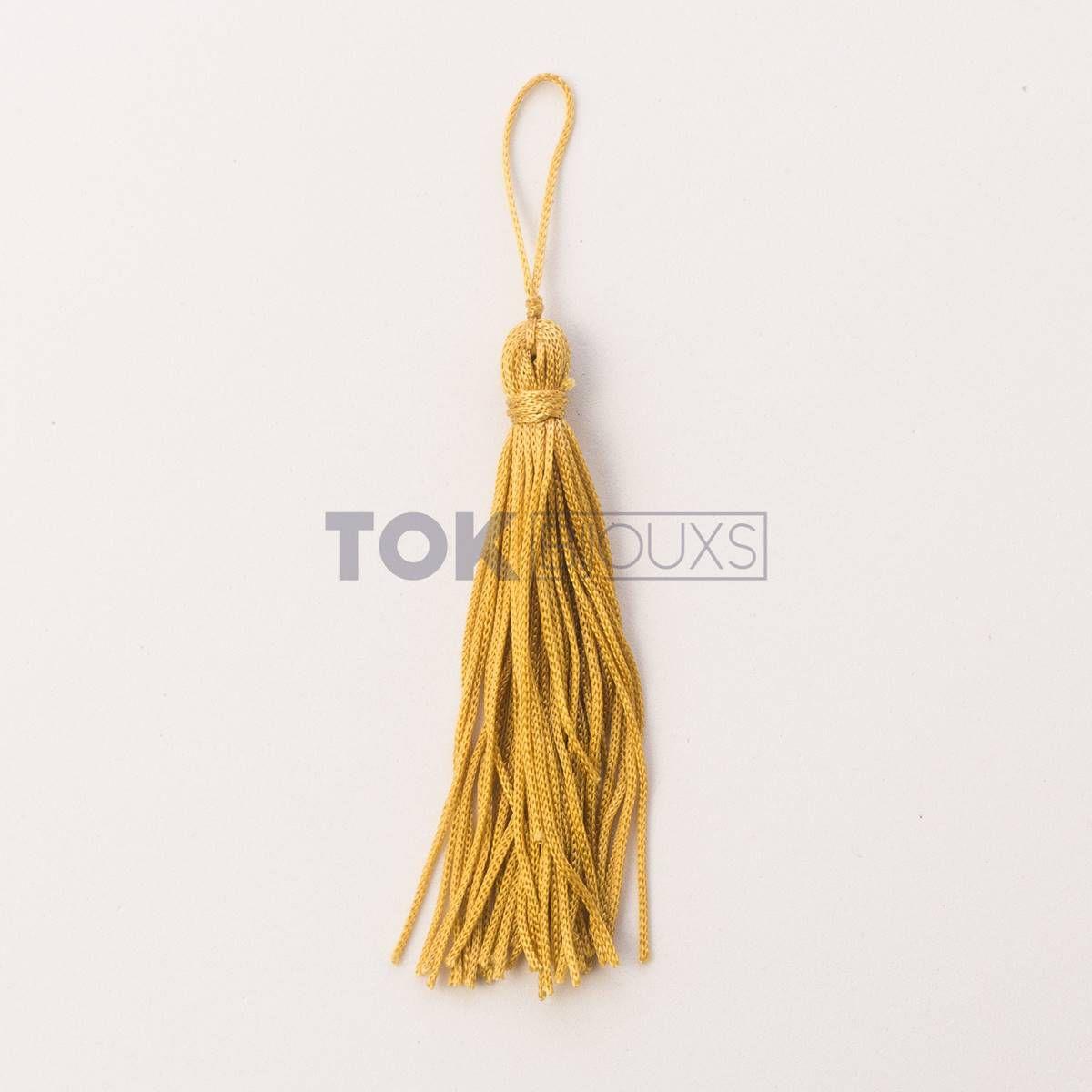 Pingente De Seda - Tassel - Dourado - 100 Unid