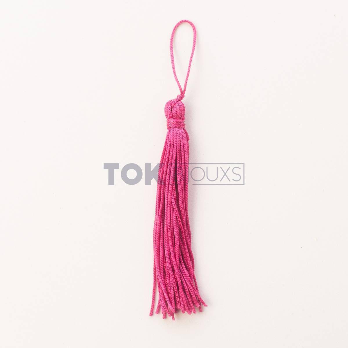 Pingente De Seda - Tassel - Pink - 100 Unid