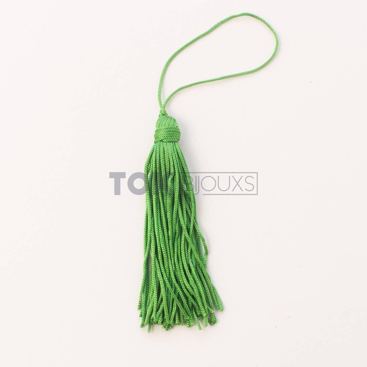 Pingente De Seda - Tassel - Verde Bandeira - Unidade