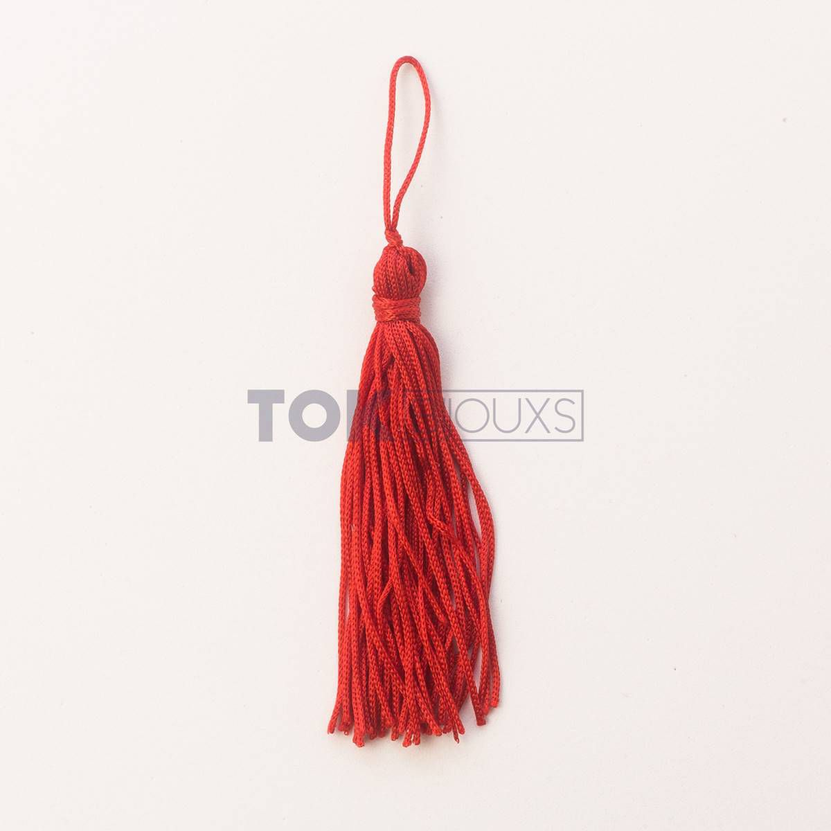 Pingente De Seda - Tassel - Vermelho - 100 Unid