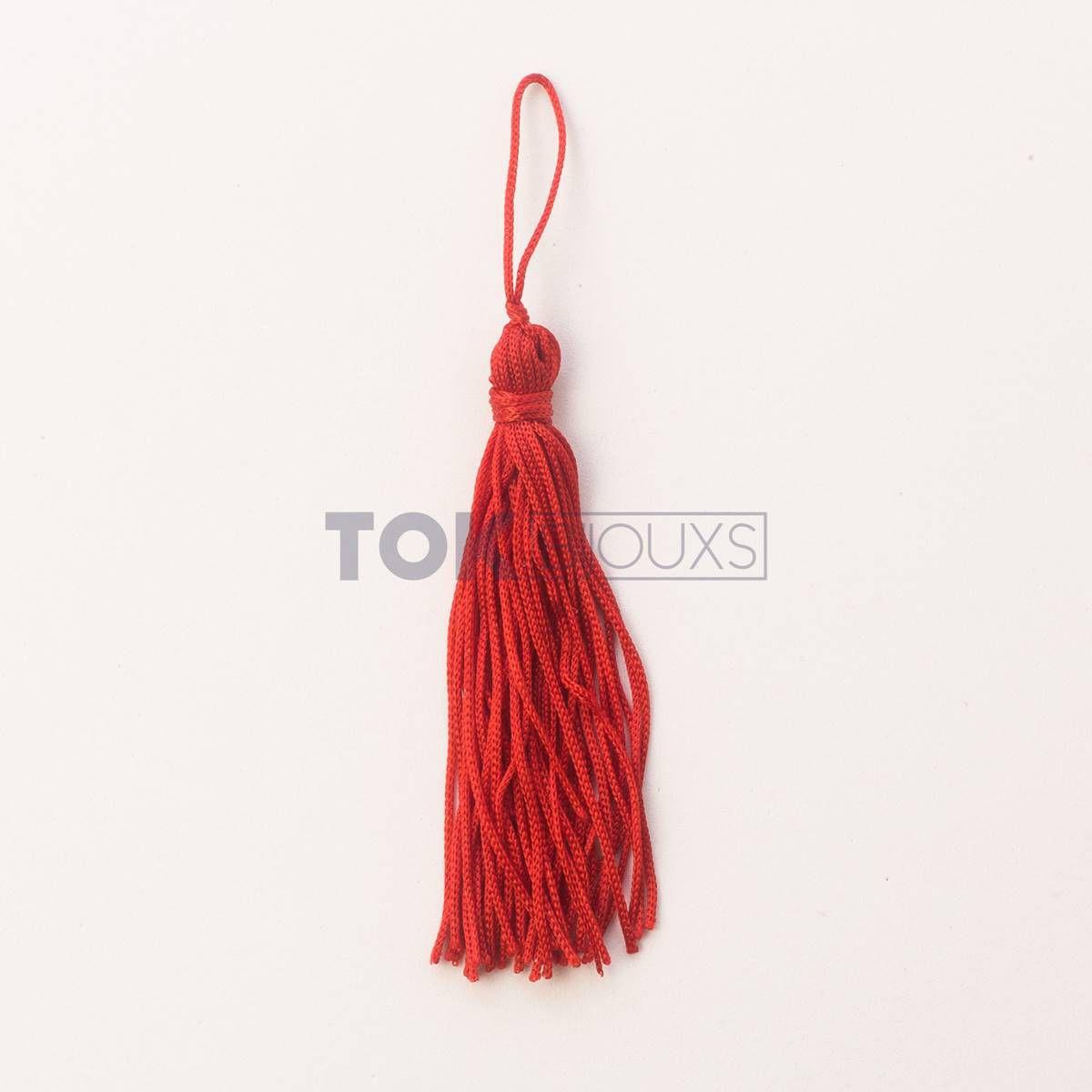 Pingente De Seda - Tassel - Vermelho - Unidade