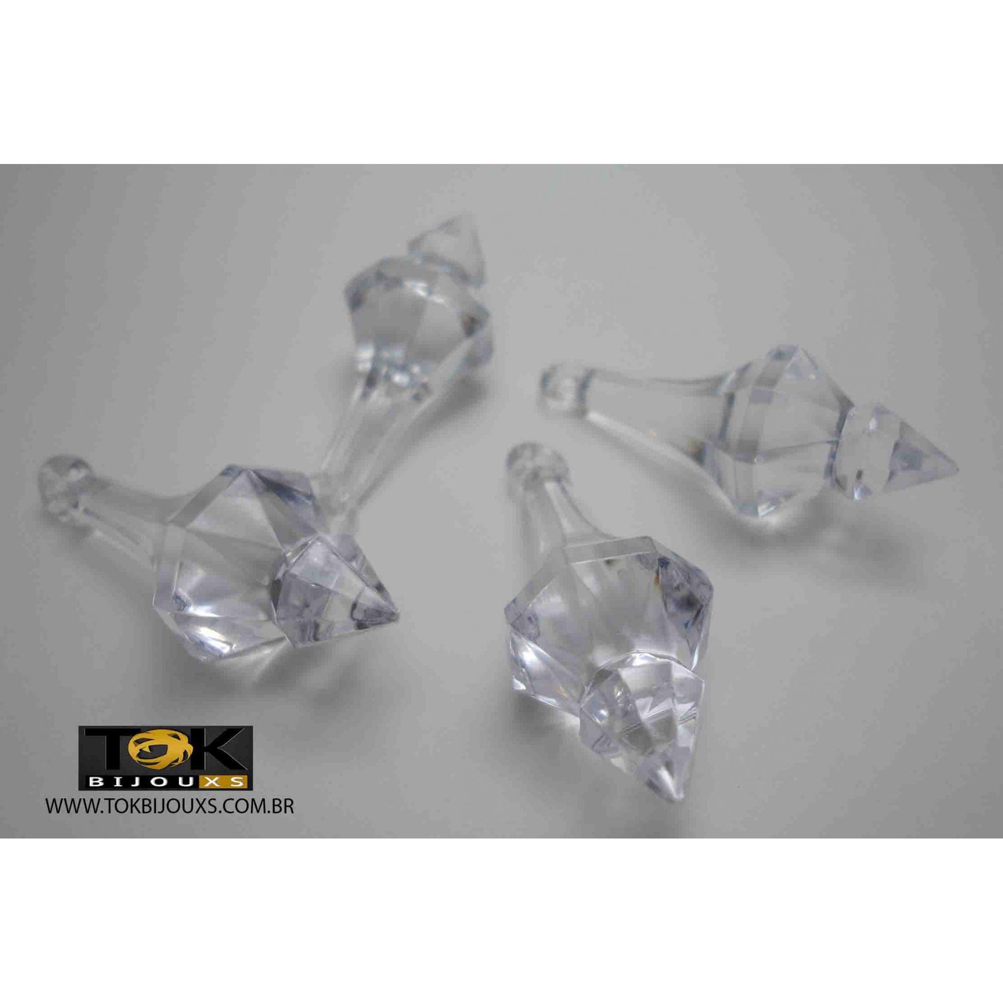 Ponteira Acrílica - Transparente - 45X15mm - 25g