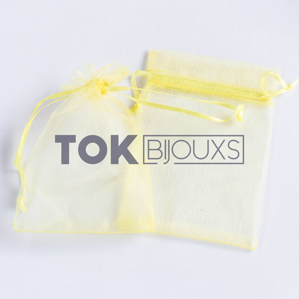 Saco Organza 10X15 - Amarelo - 100 Unid