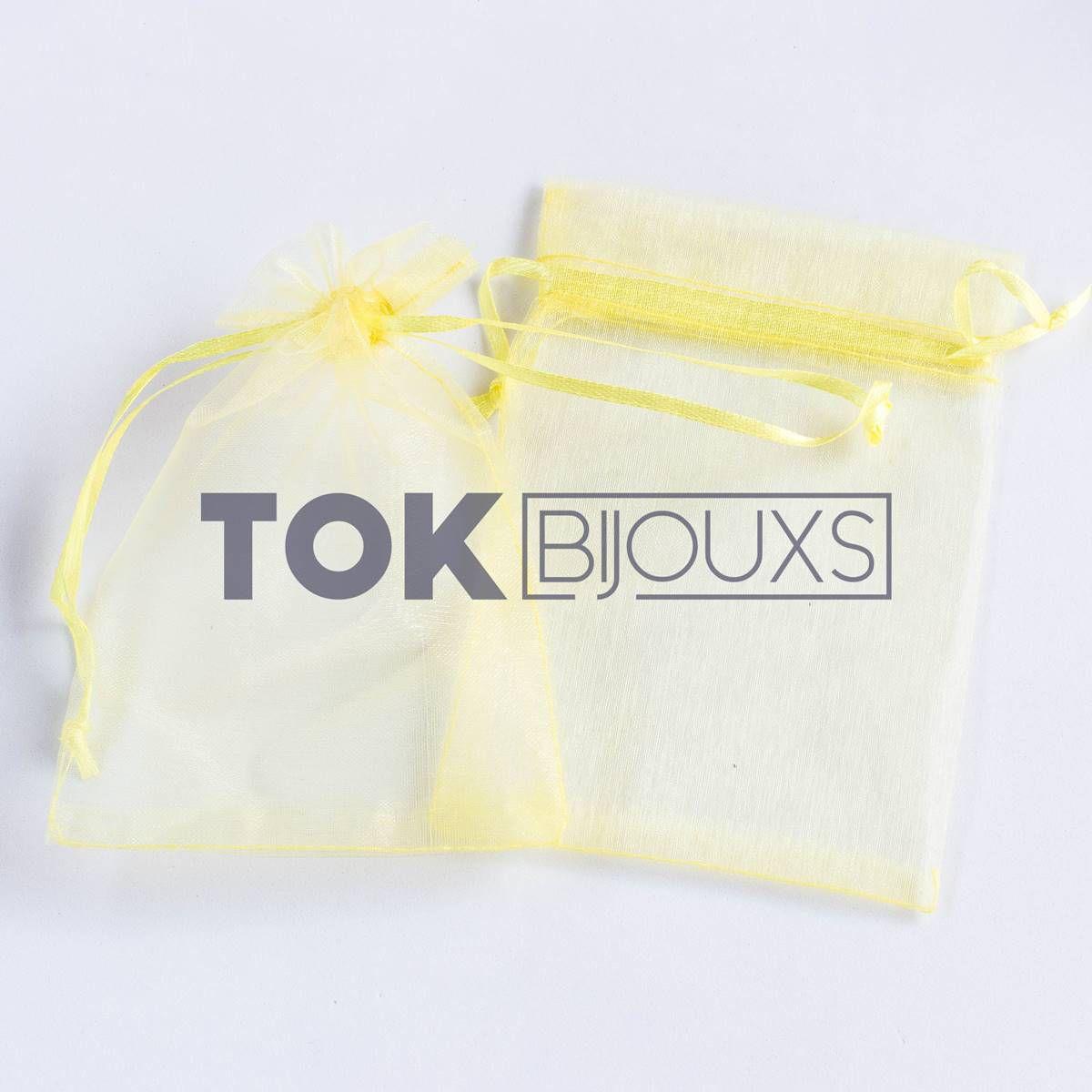 Saco Organza 10X15 - Amarelo - 10 Unid
