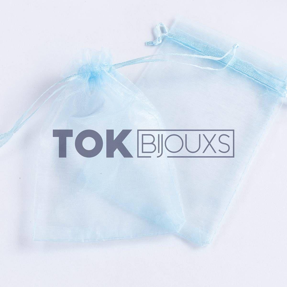 Saco Organza 10X15 - Azul Bebe - 100 Unid