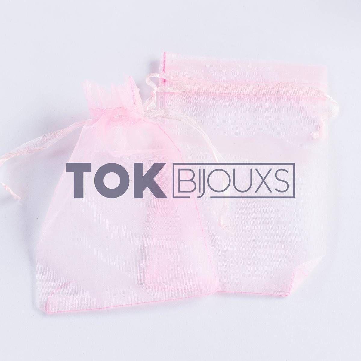 Saco Organza 10X15 - Rosa Bebe - 100 Unid