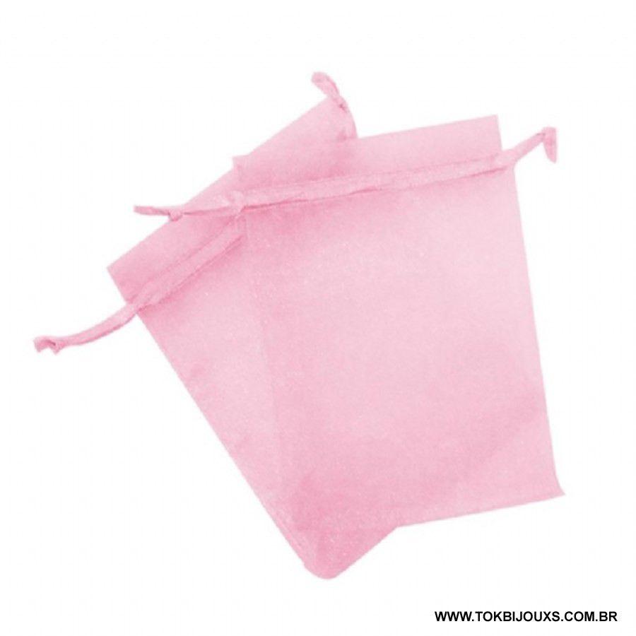Saco Organza 10X15 - Rosa Bebe - 10 Unid