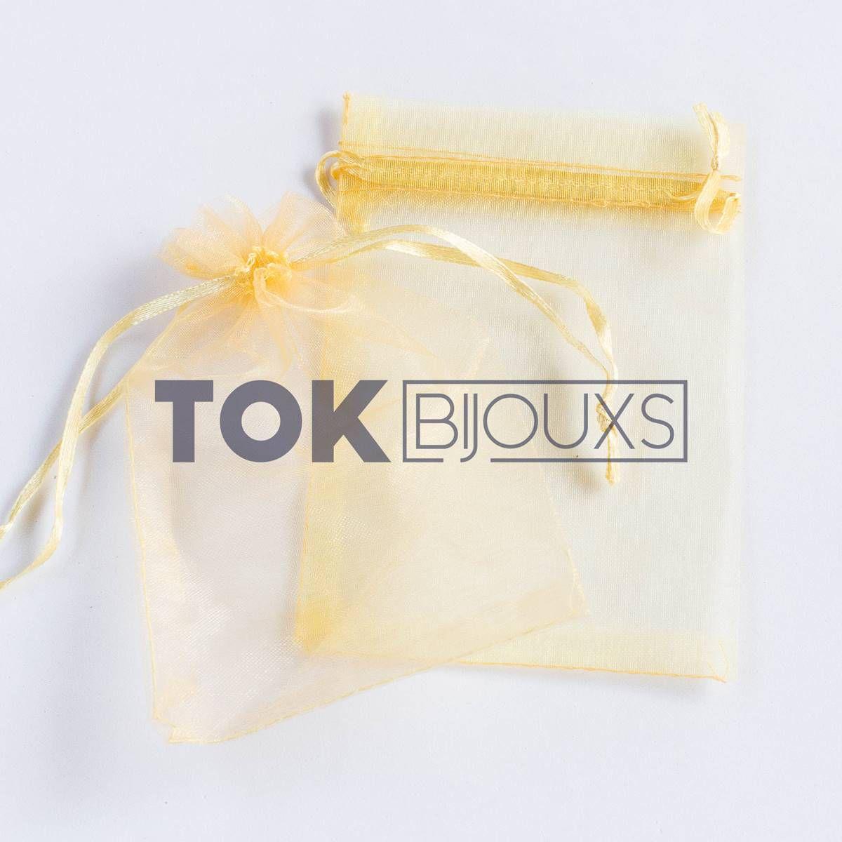 Saco Organza 7X11 - Dourado - 100 Unid