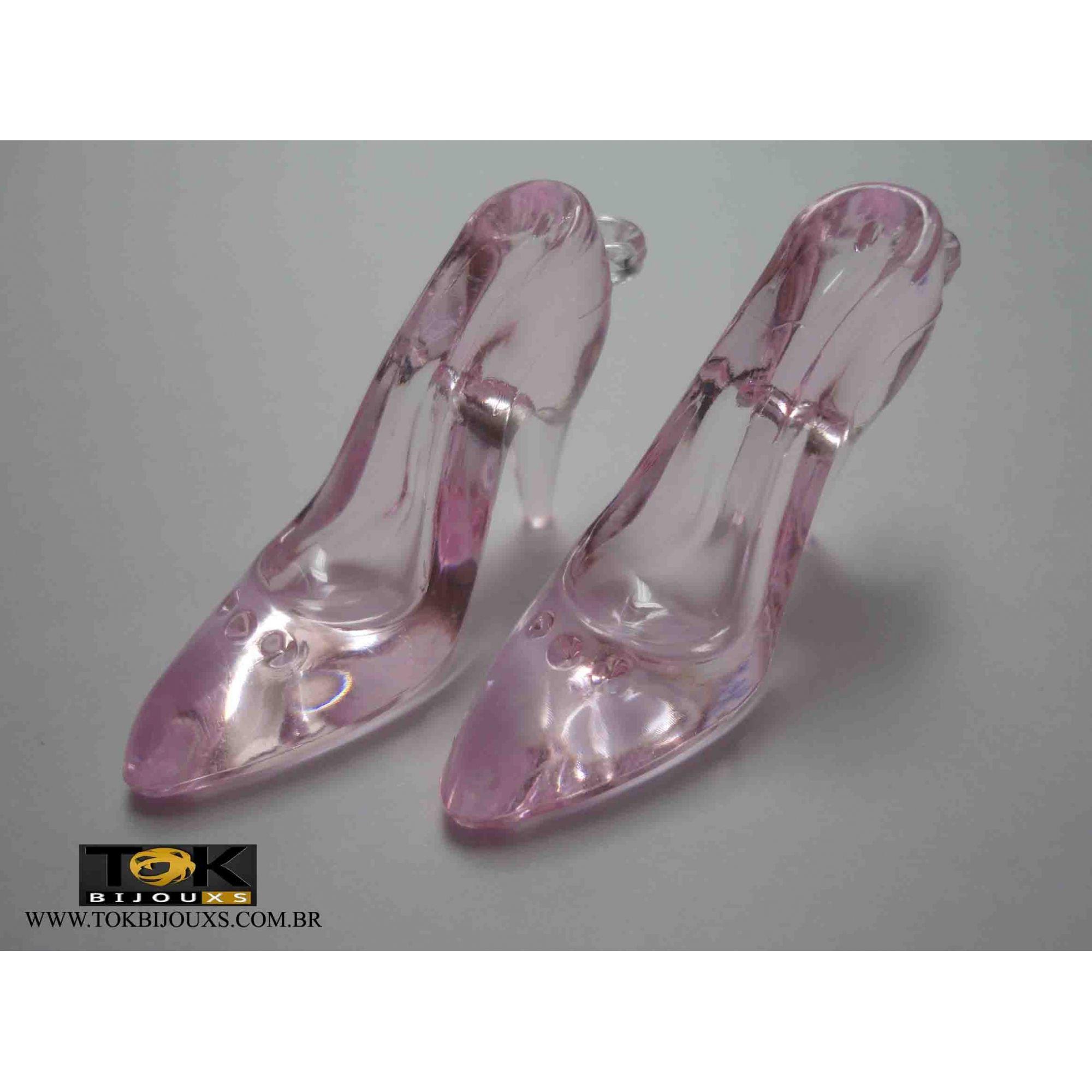 Sapato Acrilico Grande - Rosa Bebe - Unidade