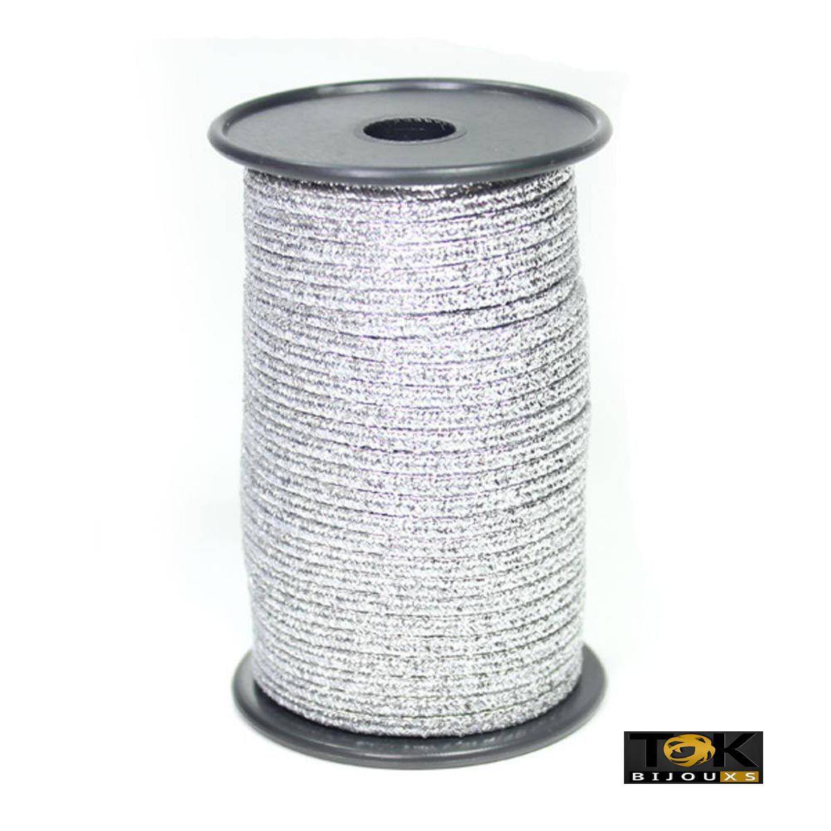Soutache Metalizado 500/04 - 1,8mm - Prata - 50 Metros