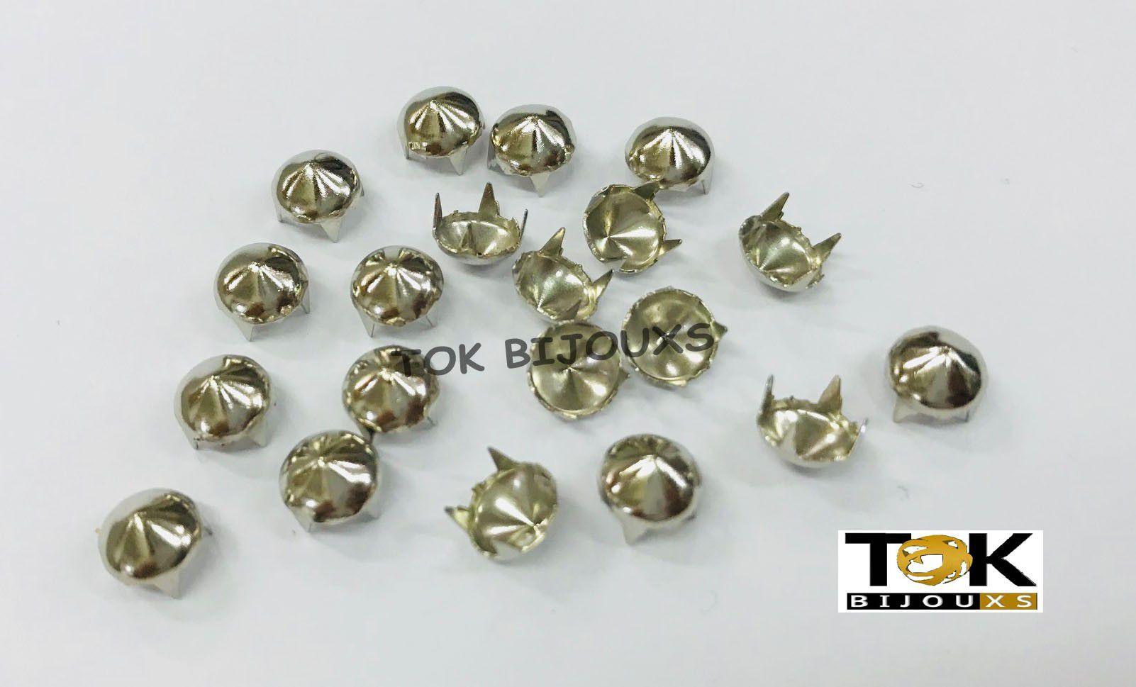Spike Redondo - 7mm - Níquel - 50 un