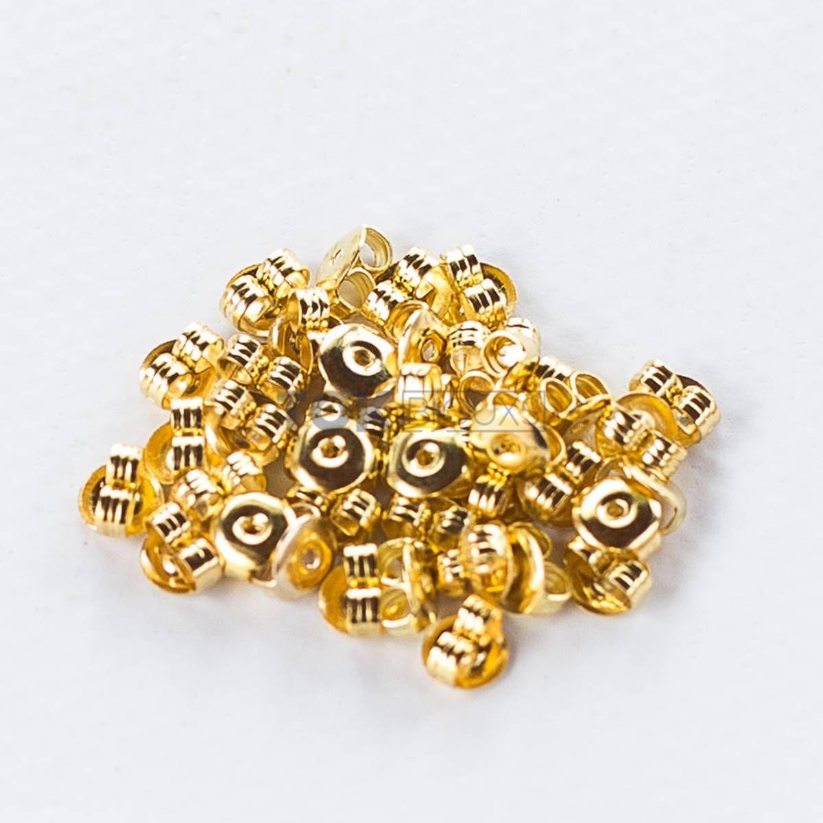 Tarracha Brinco Borboleta - Dourado - 20 Pares