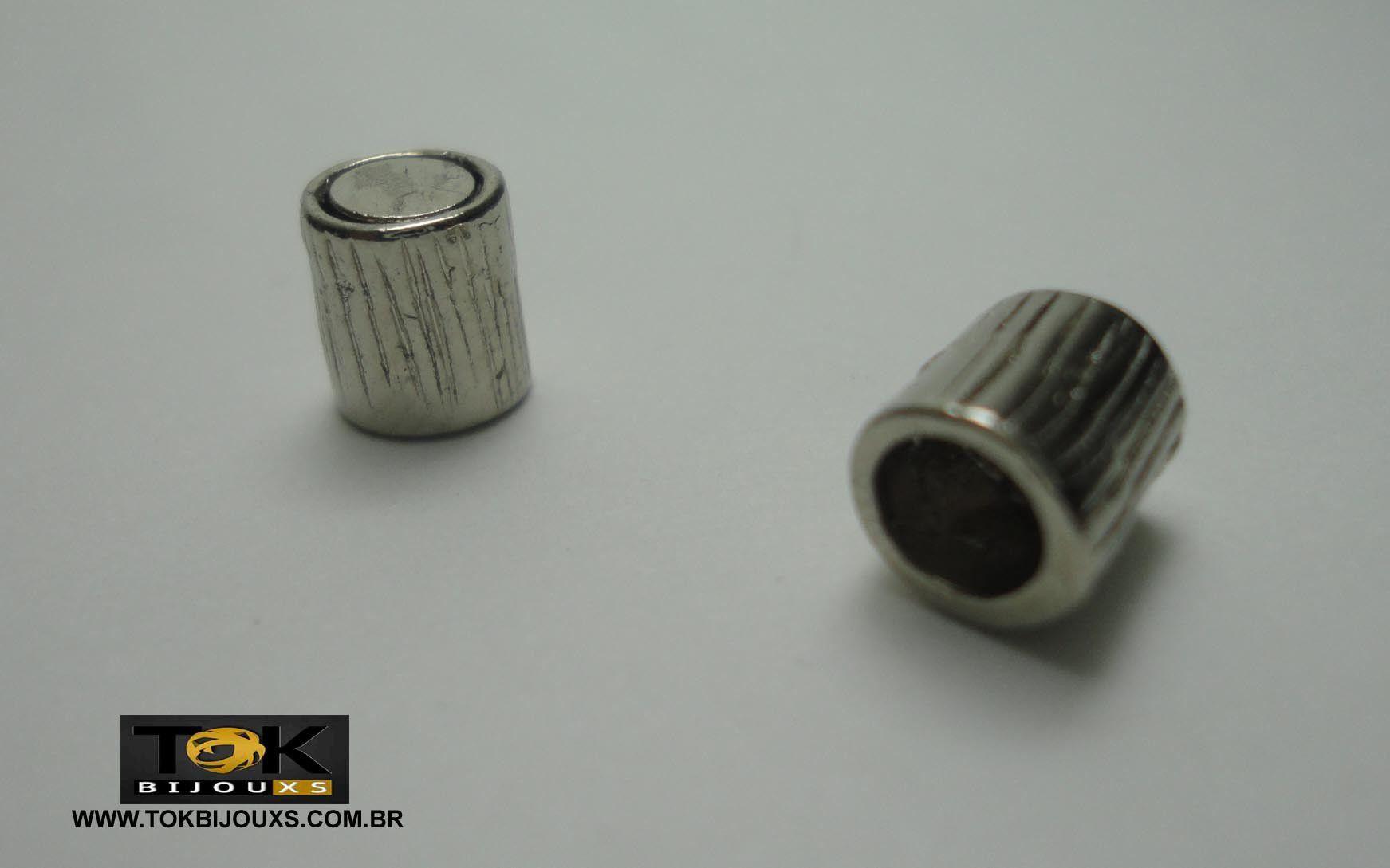 Terminal Imã Para Colagem - 5mm - Níquel - 1 Par