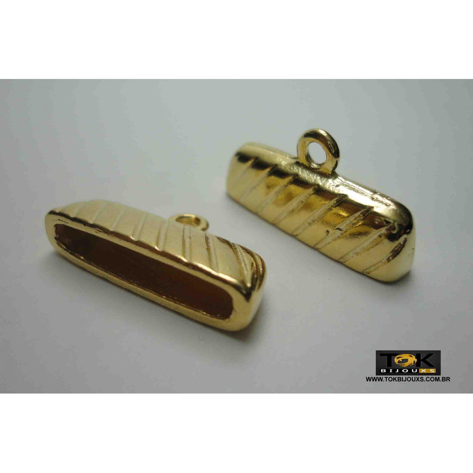 Terminal Para Colagem - 25mm - Dourado - 2 Unid