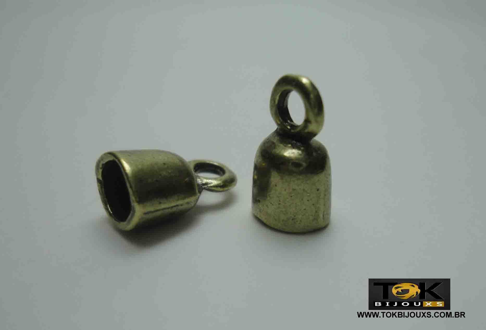 Terminal Redondo - 7mm - Ouro Velho - 4 Unid