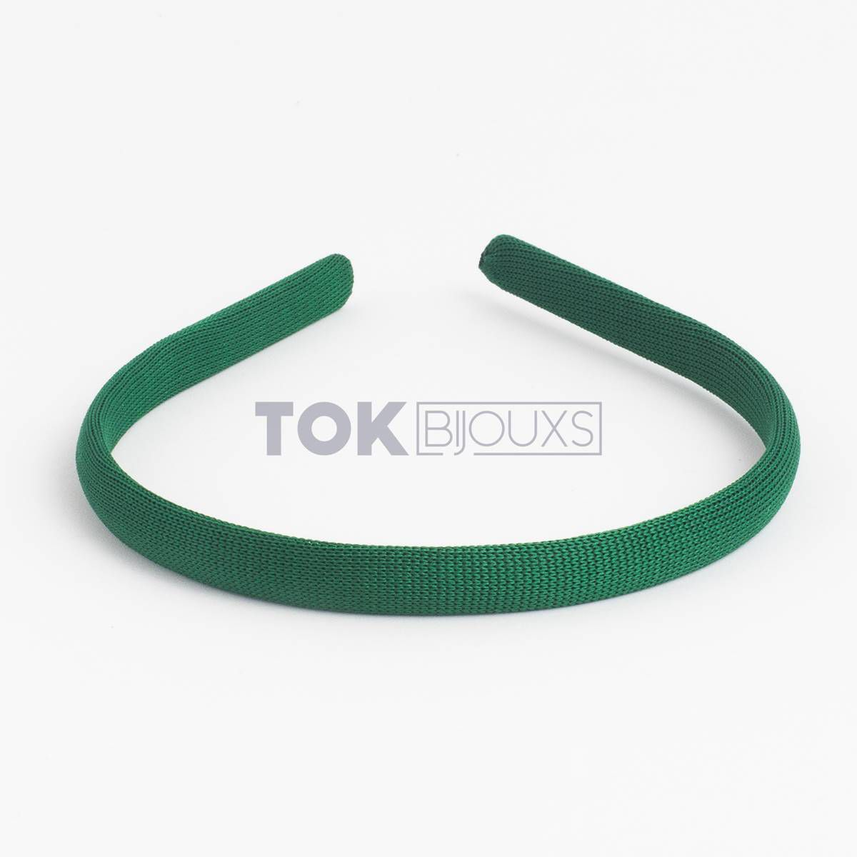 Tiaras Encapadas 10mm - Verde Bandeira - 12  Unid