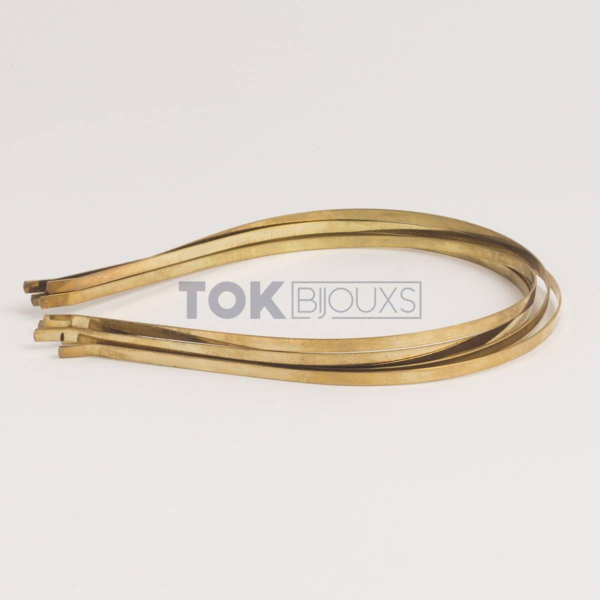 Tiaras Metal - 3/4mm - Dourado - 6   Unid