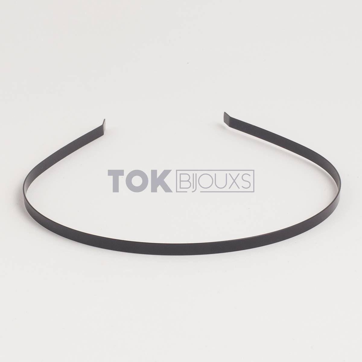 Tiaras Metal - 3/4mm - Preto - 6   Unid