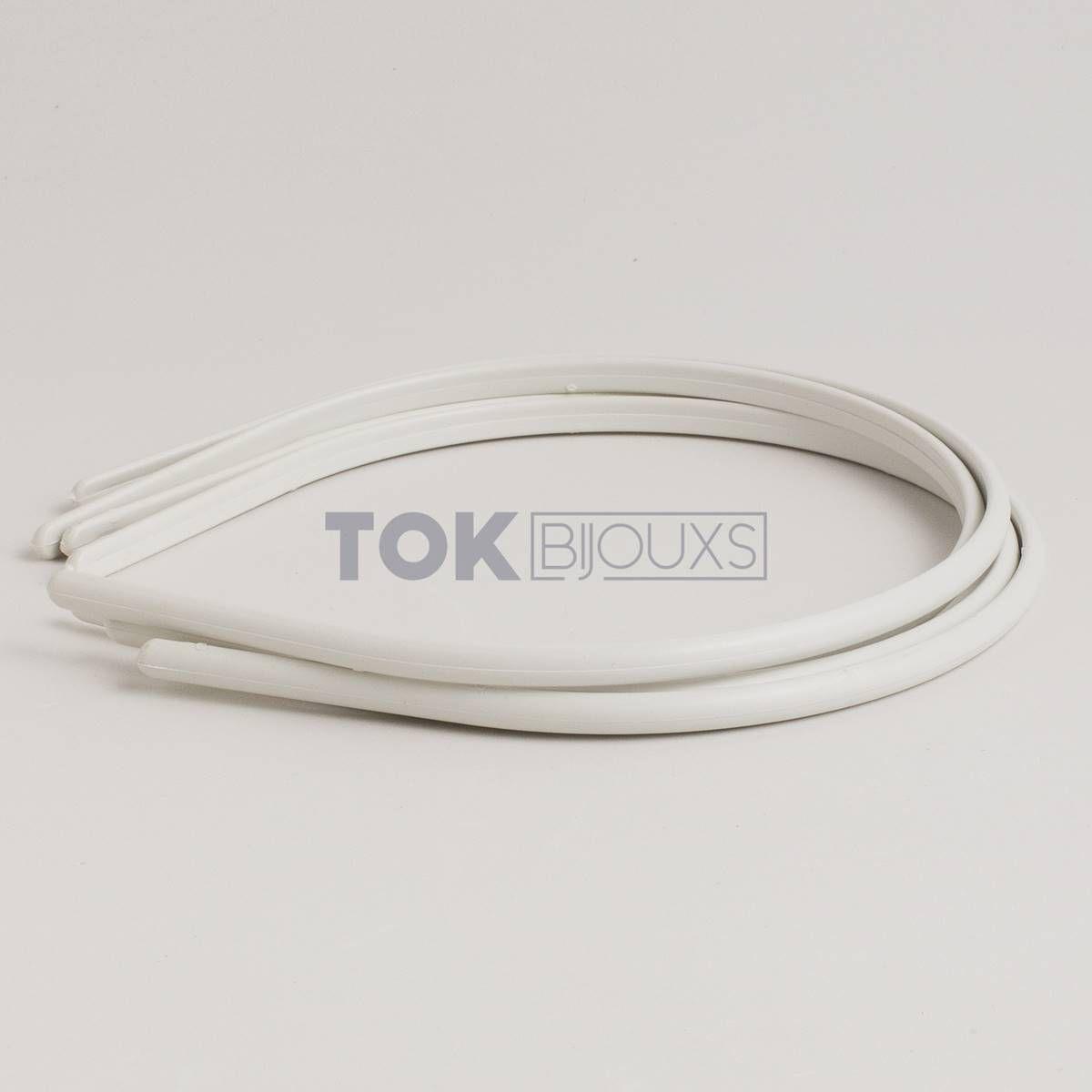 Tiaras Simples 05mm Branco - 12  Unid