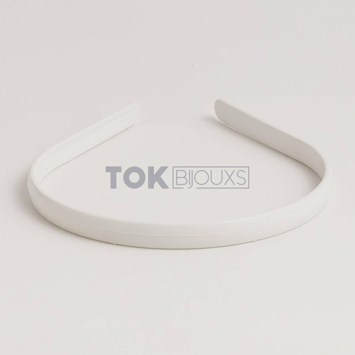 Tiaras Simples 10mm - Branco - 12  Unid