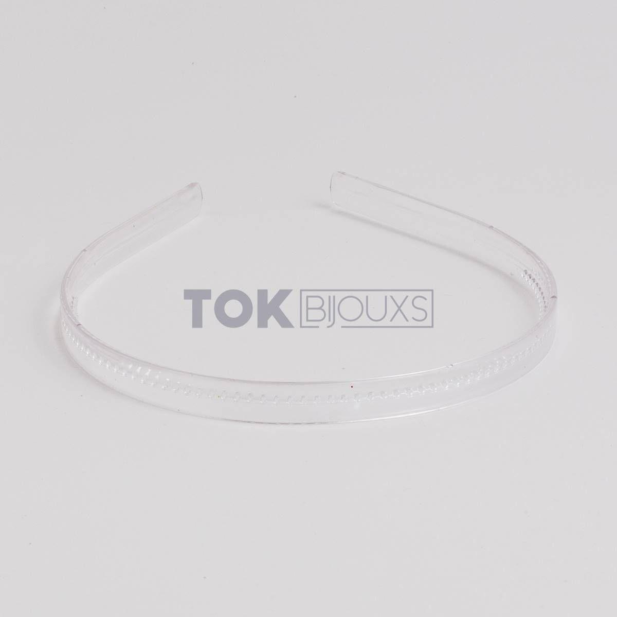 Tiaras Simples 10mm - Dentinho - Transparente - 12  Unid