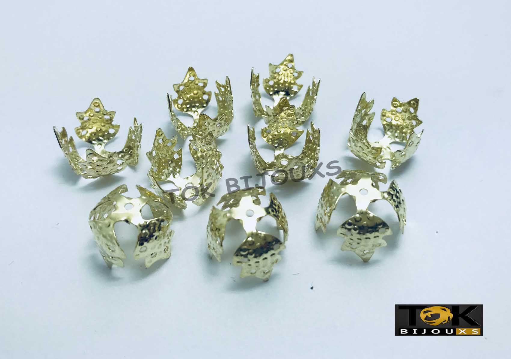 Tulipas 4 Folhas - Dourado - 14mm - 20Un