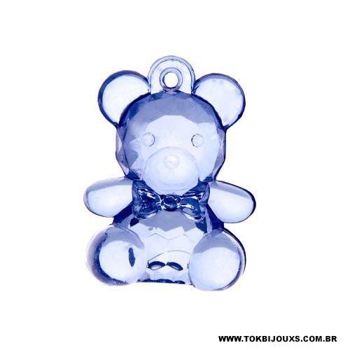 Ursinho Acrílico - Azul Bebe -   Unidade