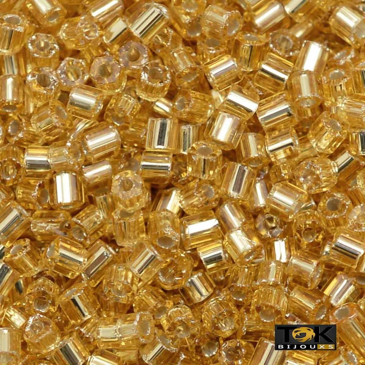 Vidrilho Jablonex - Dourado Transparente - 25g