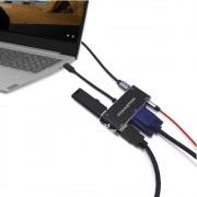 Adaptador Hub 5 em 1K com cabo USB tipo C Para Hdmi/Vga/Aux/Usb ZHQ-05