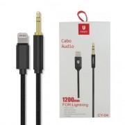 Cabo de Áudio P2 para lightning de 1,2m para Iphone
