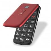 """Celular Multilaser Flip Vita P9043 Tela de 2,4"""", Dual Chip, MP3, Câmera VGA, Bluetooth - Vermelho"""