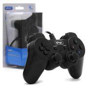 Controle Para P3 e PC Dualshock Analógico com Fio Knup Kp-4123