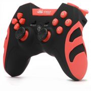 CONTROLE PS1/PS2/PS3/PC KNUP KP-4032 WLESS Vermelho