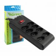 Filtro de Linha Green 8 Tomadas Preto