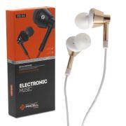Fone de Ouvido Para Celular Cromo Microfone Pmcell FO-33 Branco