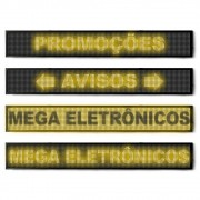 Letreiro Led Painel Monocromático Display Promoções 100 X 20 Amarelo